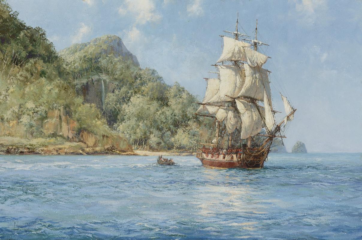 остров и парус
