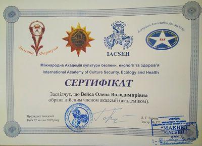 Сертификат академии